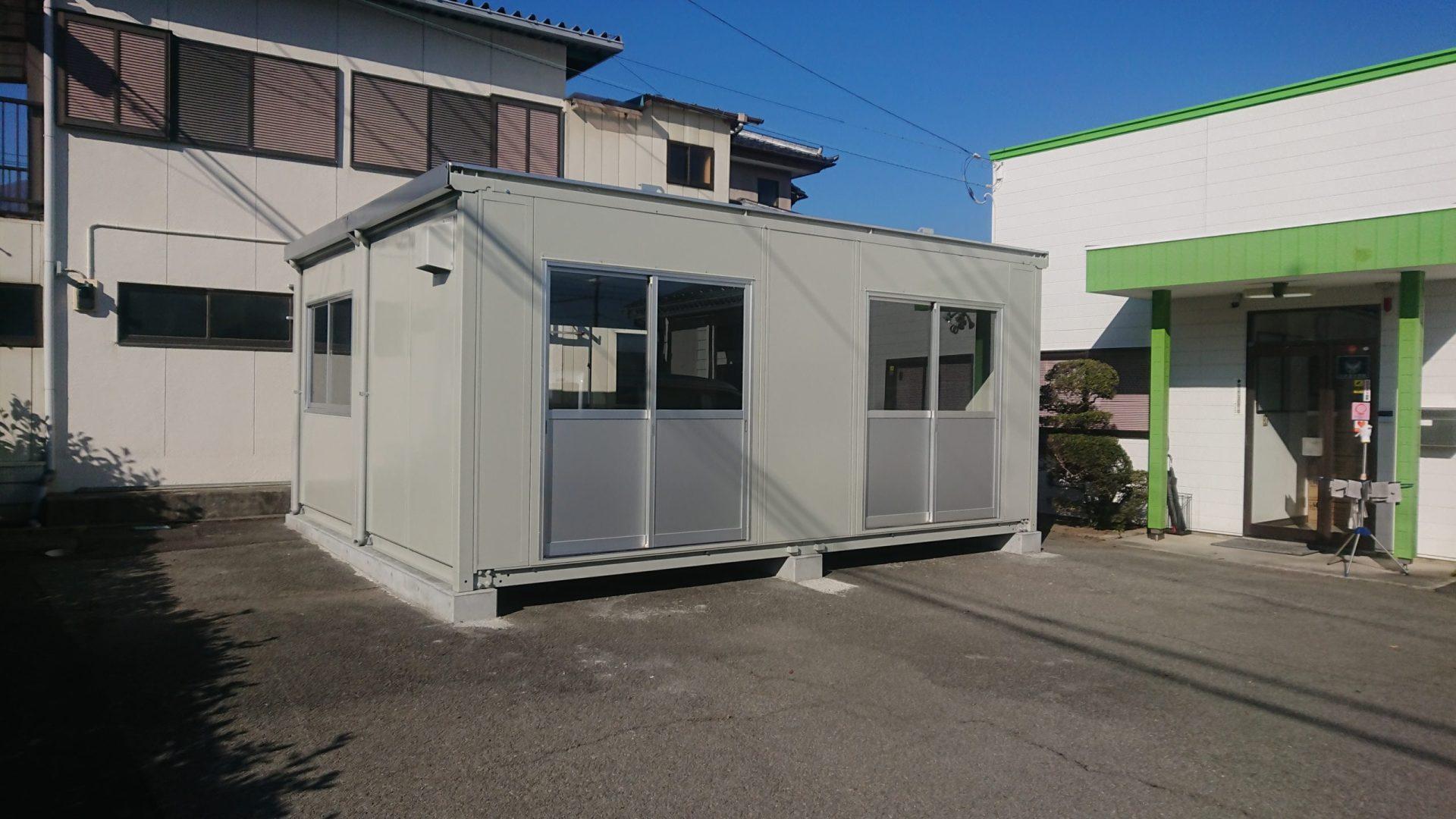 富士川町A企業様倉庫設置施工